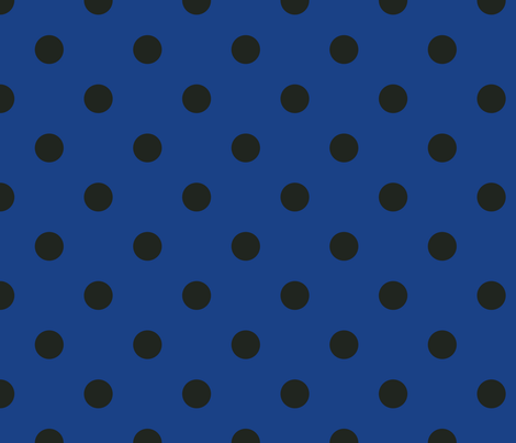 Polkas in navy fabric by domesticate on Spoonflower - custom fabric