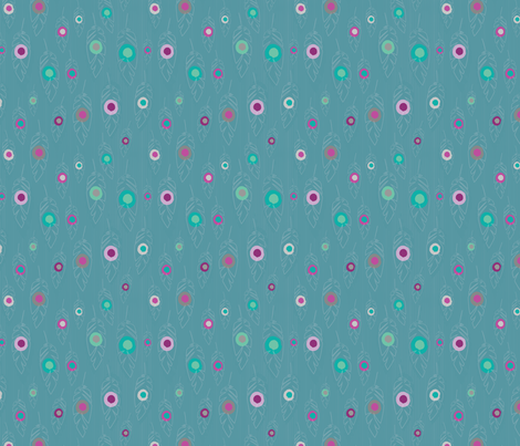 Dreams - Feathered gems fabric by rosiesimons on Spoonflower - custom fabric