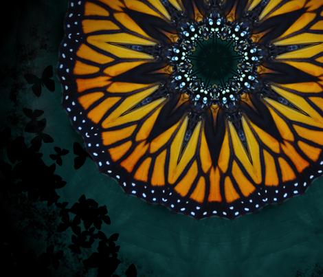 monarch_kaleidoscope_3 fabric by aquakej on Spoonflower - custom fabric