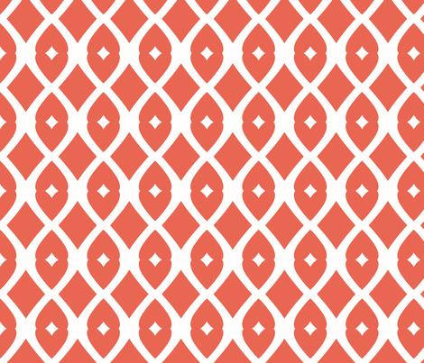 Chain Link 22 (papaya) fabric by pattyryboltdesigns on Spoonflower - custom fabric
