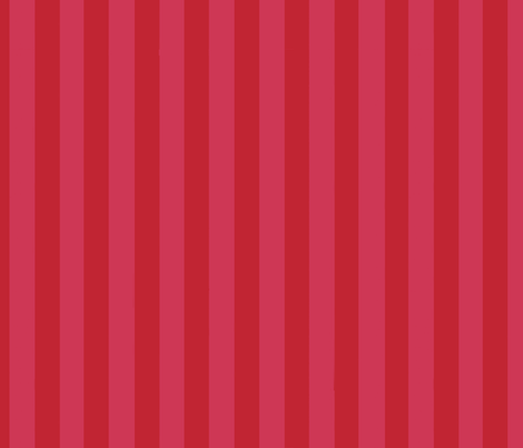 Christmas Holly Cupcake on Red Stripes fabric by floating_lemons on Spoonflower - custom fabric