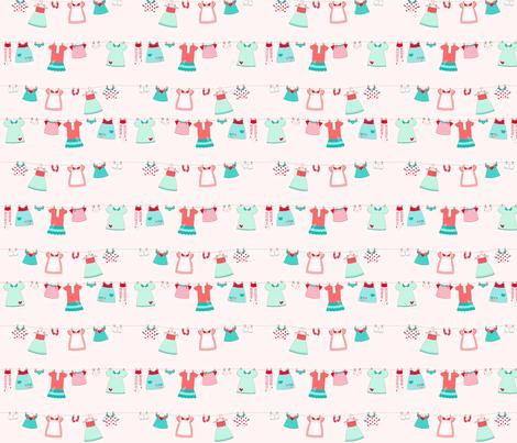 Cute_dress pink fabric by cyntia_abrigo on Spoonflower - custom fabric
