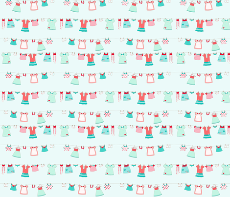 Cute_dress_Sea_Blue fabric by cyntia_abrigo on Spoonflower - custom fabric