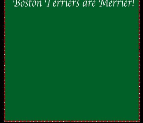 Boston Terriers are Merrier w/ Duke  fabric by missyq on Spoonflower - custom fabric