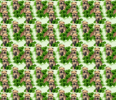 norfolk_terrier_seamless_pattern fabric by dogdaze_ on Spoonflower - custom fabric