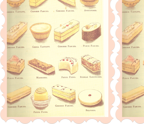 Pastries and cakes fabric by puppyprincess1 on Spoonflower - custom fabric