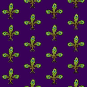 peacock fleurdelis mardigras