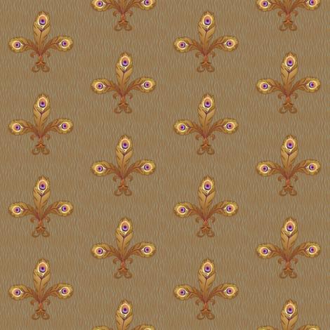 peacock fleur de lis 2 toast fabric by glimmericks on Spoonflower - custom fabric