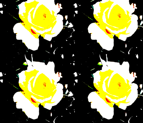 Yellow_Rose fabric by ancer on Spoonflower - custom fabric