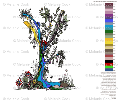 The Fairy Tree embroidery FQ kit