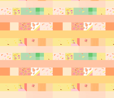 peach strip quilt 3 fabric by mojiarts on Spoonflower - custom fabric