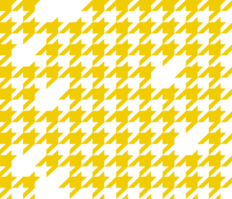 Houndstooth in yellow fabric by kfay on Spoonflower - custom fabric