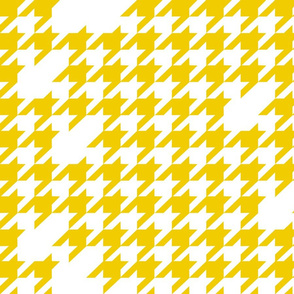 Houndstooth in yellow