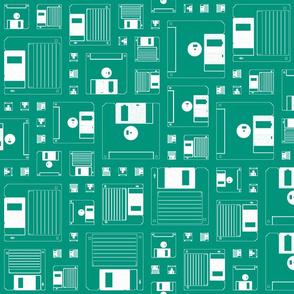 Disk pattern green