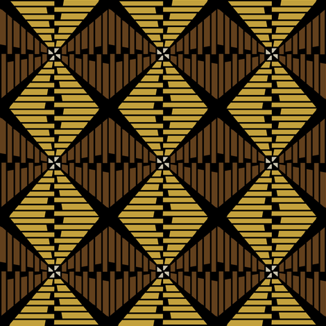 Shell Basketry (Earth) fabric by david_kent_collections on Spoonflower - custom fabric