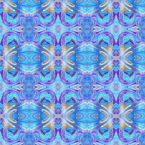 Marbled Blue Paper