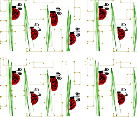 Ladybug on the move fabric by carolj on Spoonflower - custom fabric