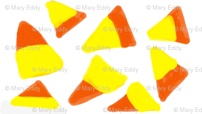candy corn halloween fabric