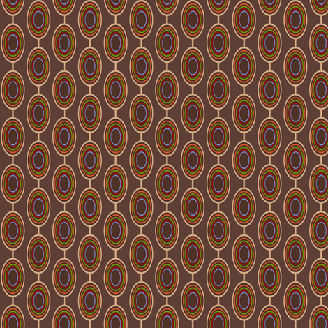 Geometric Ovals- Multi on Brown fabric by cksstudio80 on Spoonflower - custom fabric
