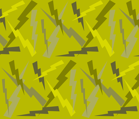 OLIVE STREAKED LIGHTNING fabric by bluevelvet on Spoonflower - custom fabric