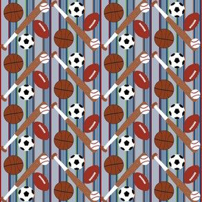 Sports Balls Light Blue Stripe