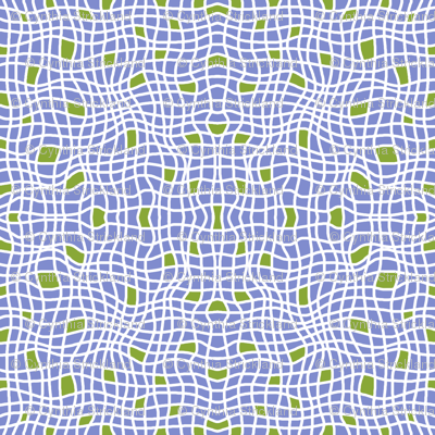 Wavy Plaid with Green