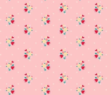 Cute_smaller_flowers_ fabric by cyntia_abrigo on Spoonflower - custom fabric