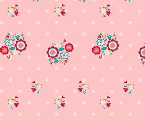 Cute_flower fabric by cyntia_abrigo on Spoonflower - custom fabric