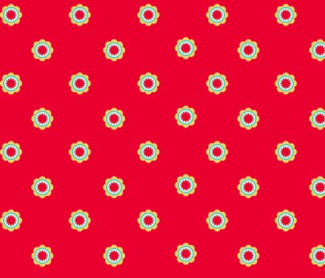 Cute_flower_red fabric by cyntia_abrigo on Spoonflower - custom fabric