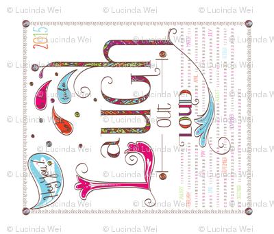 2015 Calendar: Laugh Out Loud - © Lucinda Wei