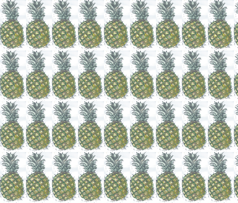 ananas fabric by jensmi on Spoonflower - custom fabric
