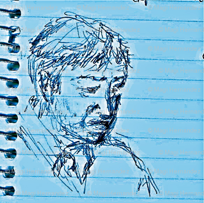 Marginalia in philosophy class - blue