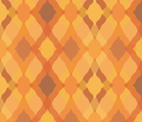 Fun Ogee - Pumpkin fabric by owlandchickadee on Spoonflower - custom fabric