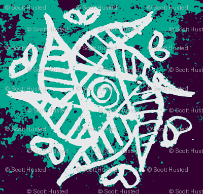 Tribal Star turquoise