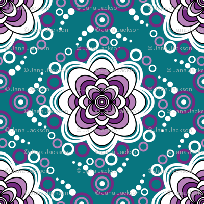 Bubbling Blooms-Grape