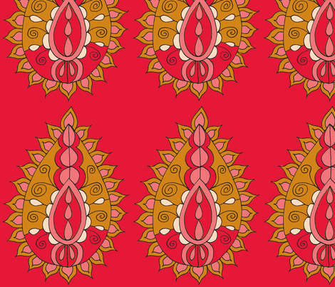 paisley teardrop red fabric by dnbmama on Spoonflower - custom fabric