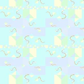 nursery pastel kites quilt