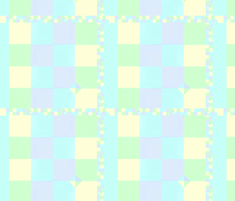 blue nursery pastels patchwork quilt fabric by mojiarts on Spoonflower - custom fabric
