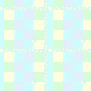 blue nursery pastels patchwork quilt