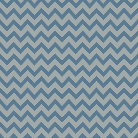 mini chevron dove blue & gray fabric by ravynka on Spoonflower - custom fabric