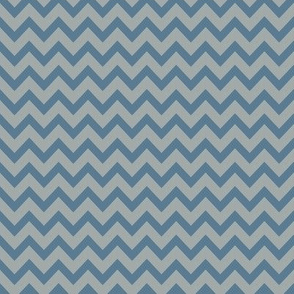 mini chevron dove blue & gray