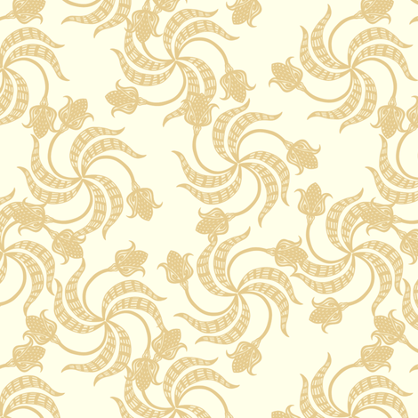 trinity_tulips_old_lace fabric by glimmericks on Spoonflower - custom fabric