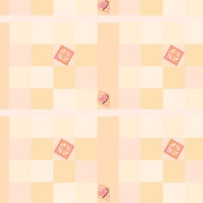 nursery pink pastels patchwork quilt