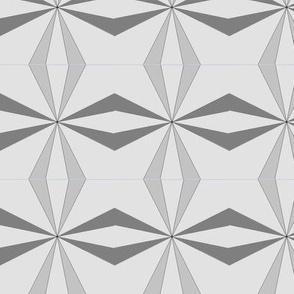 Geometric Wedding Ring in Gray Scale