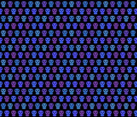 Blacklight Skulls (Small) fabric by katarra on Spoonflower - custom fabric