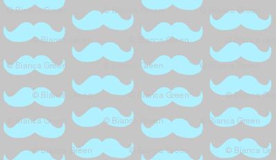 Mustache Pattern (teal)