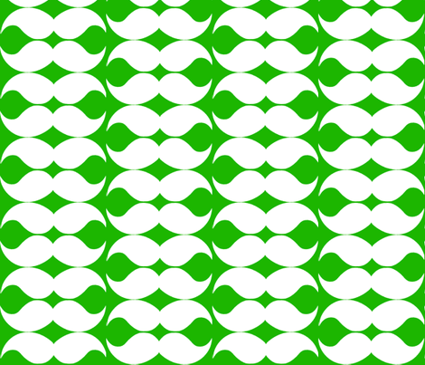 greenmustache fabric by mariahmagagnotti on Spoonflower - custom fabric