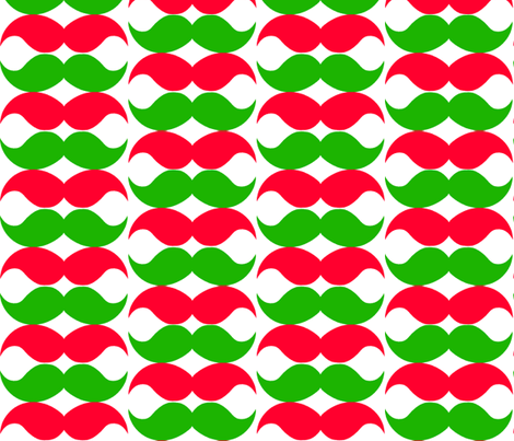 Christmas_Mustaches fabric by mariahmagagnotti on Spoonflower - custom fabric