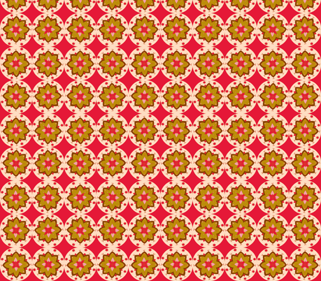 beige flower small fabric by dnbmama on Spoonflower - custom fabric