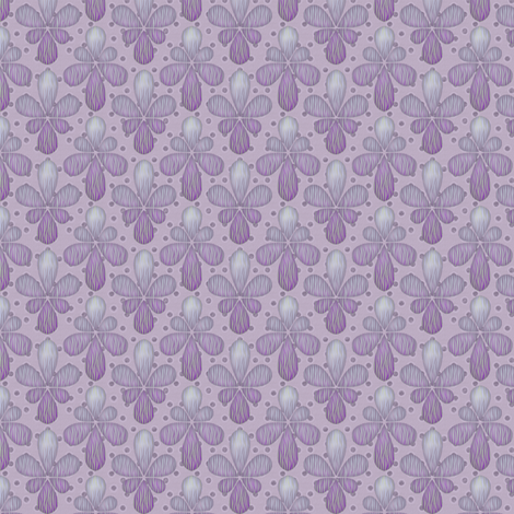 orchid drop fabric by glimmericks on Spoonflower - custom fabric